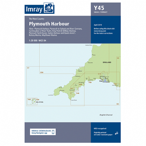 Imray Y45 Plymouth Harbour Small format